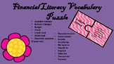 Financial Literacy Vocabulary Puzzle