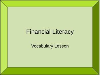 Financial Literacy Vocabulary Quiz