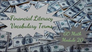 Financial Literacy Vocabulary Scavenger Hunt