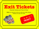 Financial Literacy and Value of Coins Exit Tickets