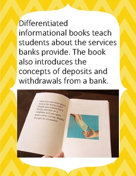 Financial Literacy for Elementary: Banks, Deposits and Withdrawals.
