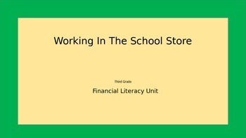 Financial Literacy=A Story About Starting A School Store