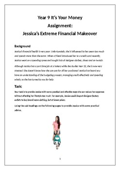 Financial Makeover Assignment for Teens
