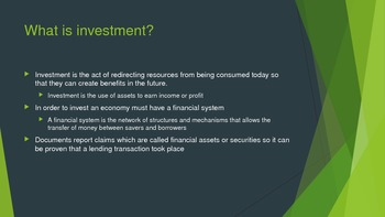 Financial Markets - Investments, Bonds, CDs, Stocks