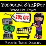 Personal Shopper Percent Project - Real Life Math PBL