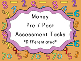 Financial Maths Money Assessment Task (Pre or Post) Differ