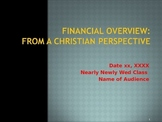 Financial Overview from a Christian Perspective - College & Adults