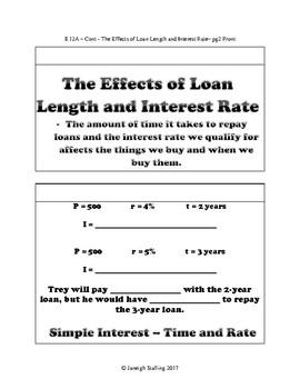 Financial Planning - (8th Grade Math TEKS 8.12A-G))