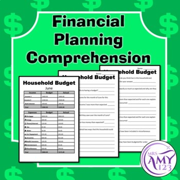 Financial Planning Comprehension