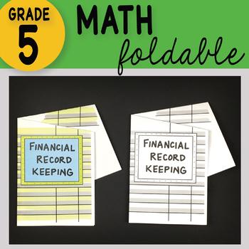 Financial Record Keeping Math Interactive Notebook Foldable