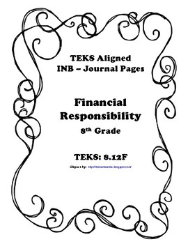 Financial Responsibility INB TEKS 8.12F