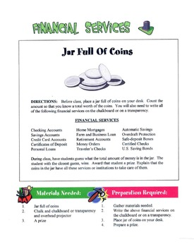 Financial Services & Institutions Lesson