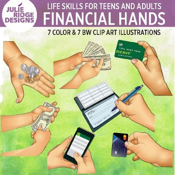 Financial Skills for Teens and Adults Clip Art Illustrations