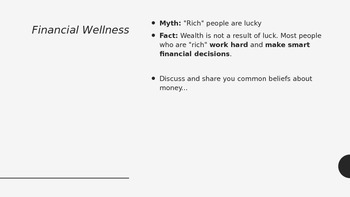 Financial Wellness + Financial Literacy PowerPoint