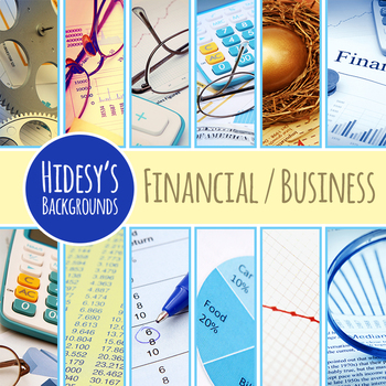 Financial or Business Backgrounds / Digital Papers Clip Art Commercial Use