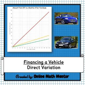 Financing a Vehicle: A Lesson on Direct Variation