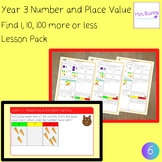 Find 1, 10, 100 more or less lesson pack (Year 3 Number an