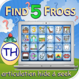TH Find 5 Frogs - Articulation Activity - Teletherapy - Di
