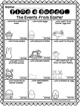 The Events of Easter (Find a Buddy)