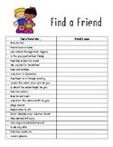Find A Friend Who...