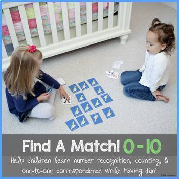 Find A Match 0-10! (number recognition, counting & one-to-one correspondence)