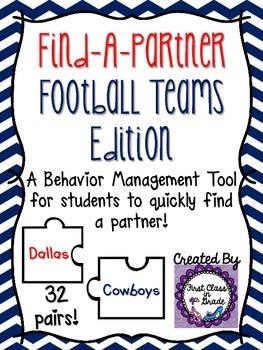 Find A Partner Cards (Football Teams)