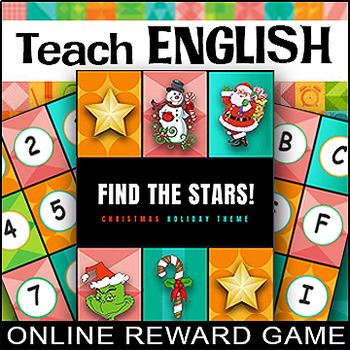 Teaching ENGLISH ONLINE ⭐ Find A STAR REWARD GAME ⭐ ESL ⭐ SALE! ⭐Christmas China