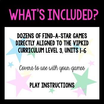 Find-A-Star: A Reward System for VIPKID Level Three (Units 1-6)