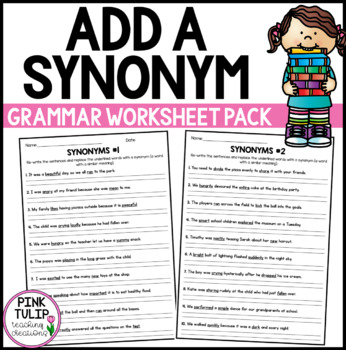 Find A Synonym - Worksheet Pack