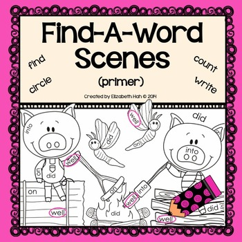 Find-A-Word Scenes: Primer Dolch Words
