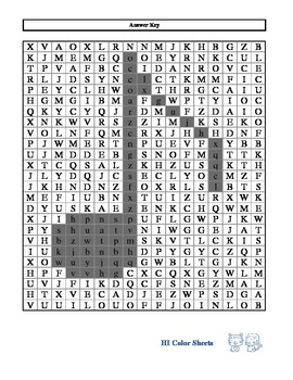 Find All Lowercase Letters (HI Color Sheets)