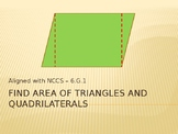 Find Area of Polygons PowerPoint Presentation - 6.G.1