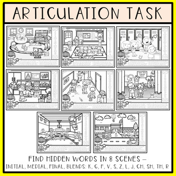Find Articulation and Follow Directions Speech and Language: Back to School