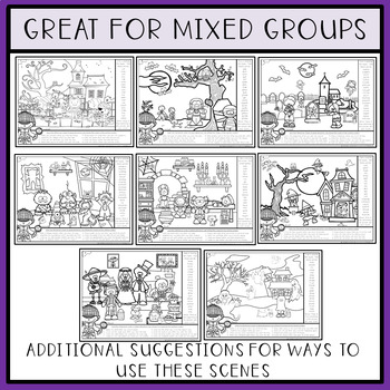 Find Articulation and Follow Directions Speech and Language: Halloween