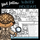 Find Articulation and Follow Directions Speech and Language: Winter Holidays