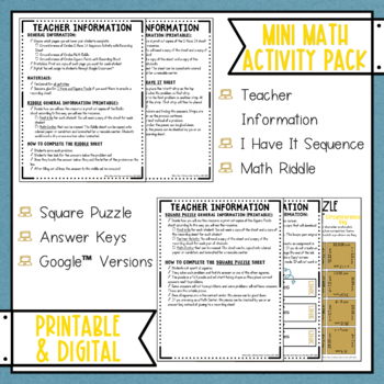 Find Circumference Math Activities Google Slides and Printable