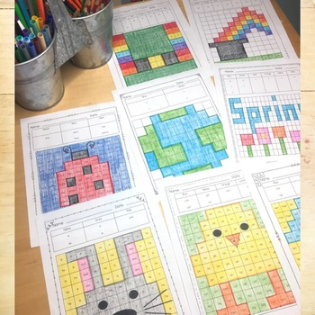 Find & Color Activities - Editable Spring Worksheets