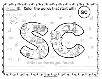 Find & Color!  Blends, Digraphs & Trigraphs