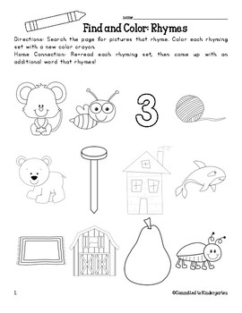 Find & Color Rhymes