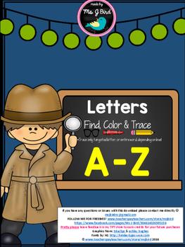 Find, Color, & Trace A-Z Bundle