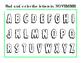Find Color Upper Case Alphabet Letters September All 12 Months Included ELA 12pg