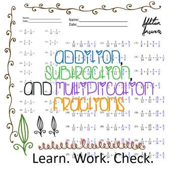 Least Common Multiple Worksheets By Hsb Teachers Pay Teachers