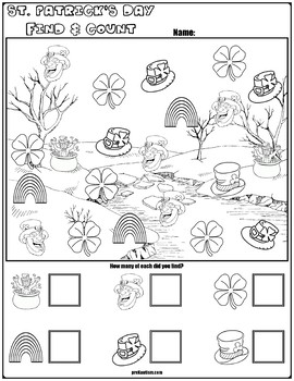 Find & Count St. Patrick's Day Characters