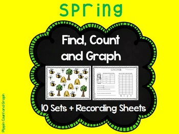Find, Count and Graph - 10 Spring and Easter Graphs (Math Centers)