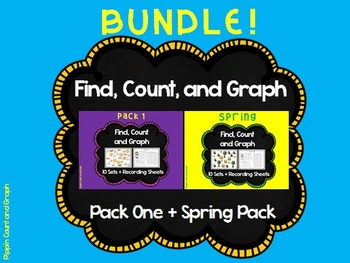 Find, Count and Graph - BUNDLE Graph Sets and Recording Sheets (Math Centers)