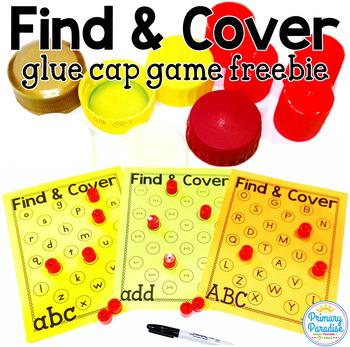 Find & Cover Glue Cap (Bottle Cap) Editable Game: Free