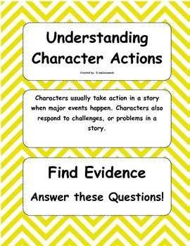 Find Evidence: Understanding Characters