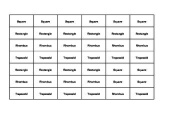 Find Five: Quadrilateral Math Game