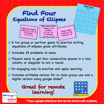 Find Four: Equations of Ellipses