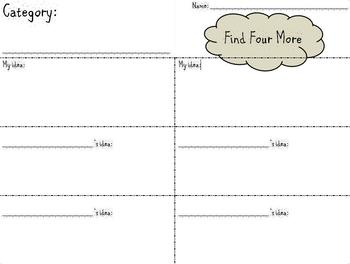 Find Four More - Cooperative Activity Any Subject